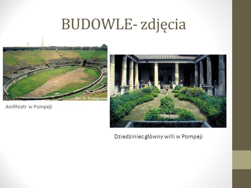 BUDOWLE- zdjęcia Amfiteatr w Pompeji Dziedziniec główny willi w Pompeji