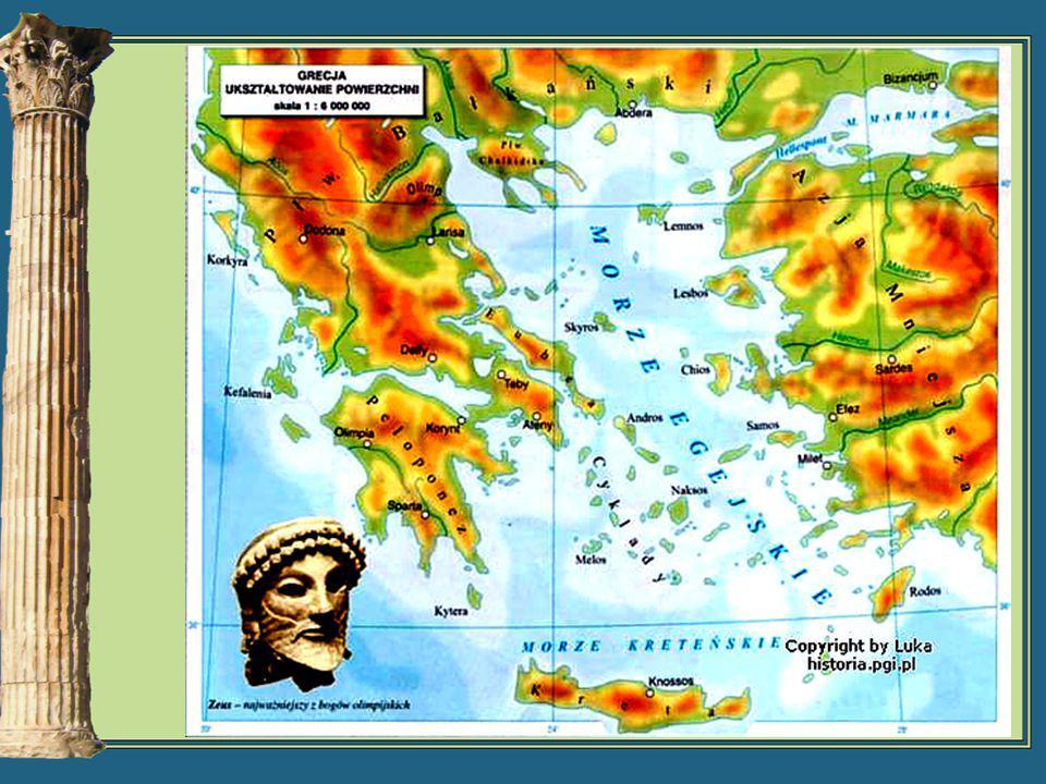 Pierwsze osady powstały w południowo- wschodniej części Grecji, w rejonie Attyki.