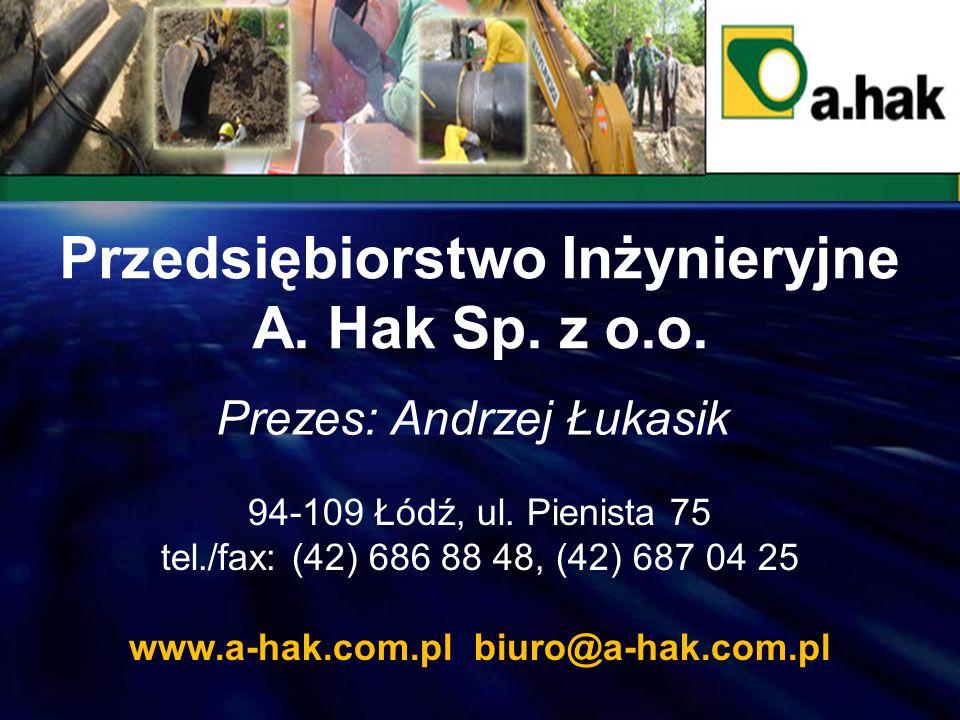 Prezes: Marek Głuszczak 91-341 Łódź, ul.