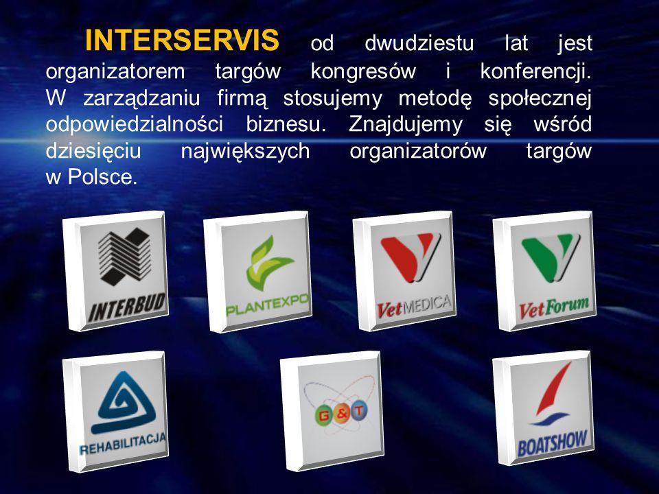 INTERSERVIS od dwudziestu lat jest organizatorem targów kongresów i konferencji. W zarządzaniu firmą stosujemy metodę społecznej odpowiedzialności biz