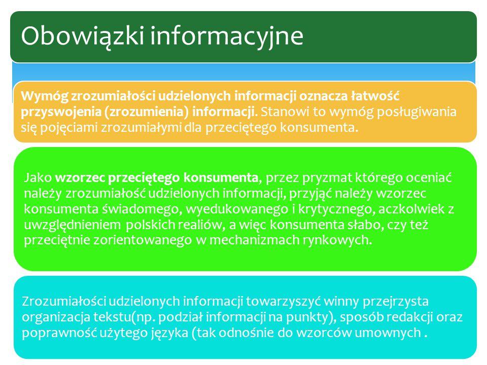 Wymóg zrozumiałości udzielonych informacji oznacza łatwość przyswojenia (zrozumienia) informacji.