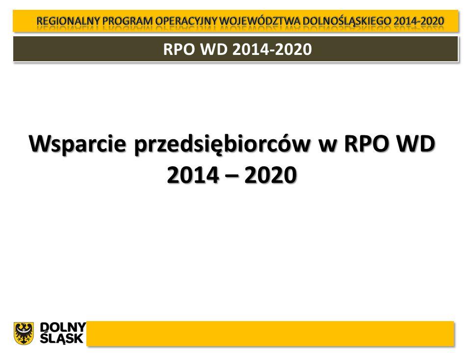 RPO WD 2014-2020 Wsparcie przedsiębiorców w RPO WD 2014 – 2020