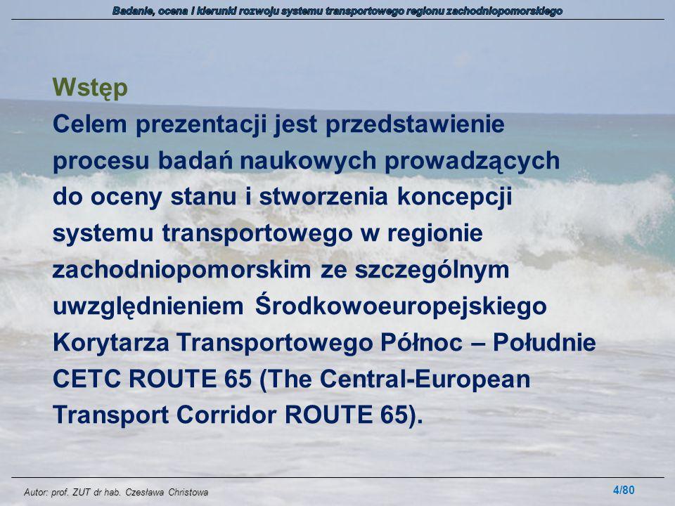 Autor: prof.ZUT dr hab. Czesława Christowa 1.