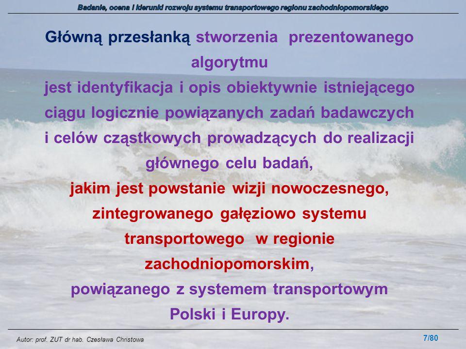 Autor: prof. ZUT dr hab. Czesława Christowa Główną przesłanką stworzenia prezentowanego algorytmu jest identyfikacja i opis obiektywnie istniejącego c