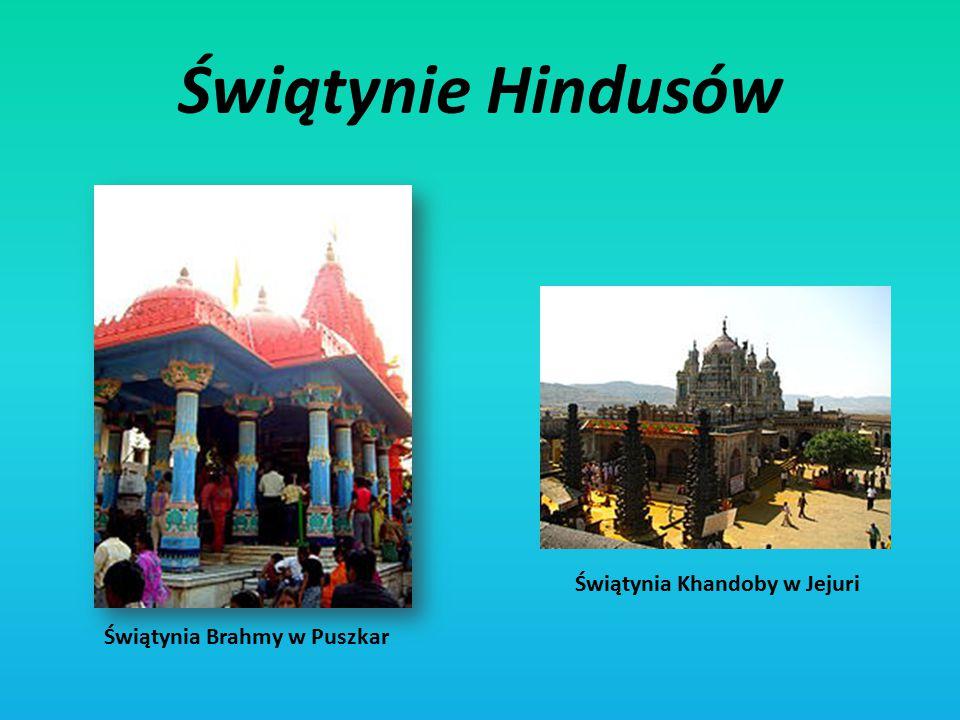 Świątynie Hindusów Świątynia Khandoby w Jejuri Świątynia Brahmy w Puszkar