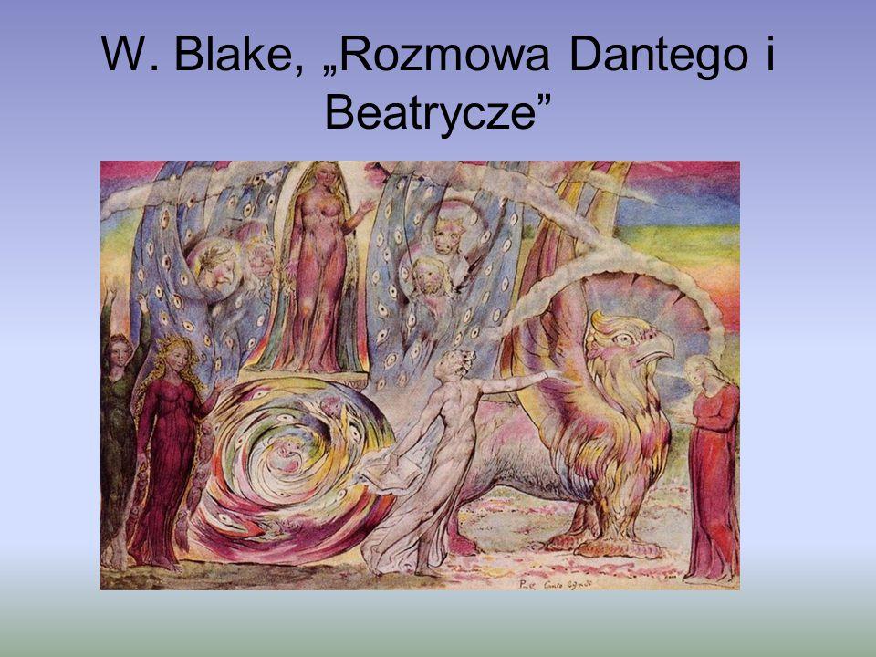 """W. Blake, """"Rozmowa Dantego i Beatrycze"""""""
