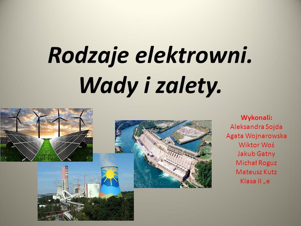 SPIS TREŚCI 1.Konwencjonalne źródła energii 2. Elektrownie niekonwencjonalne 3.