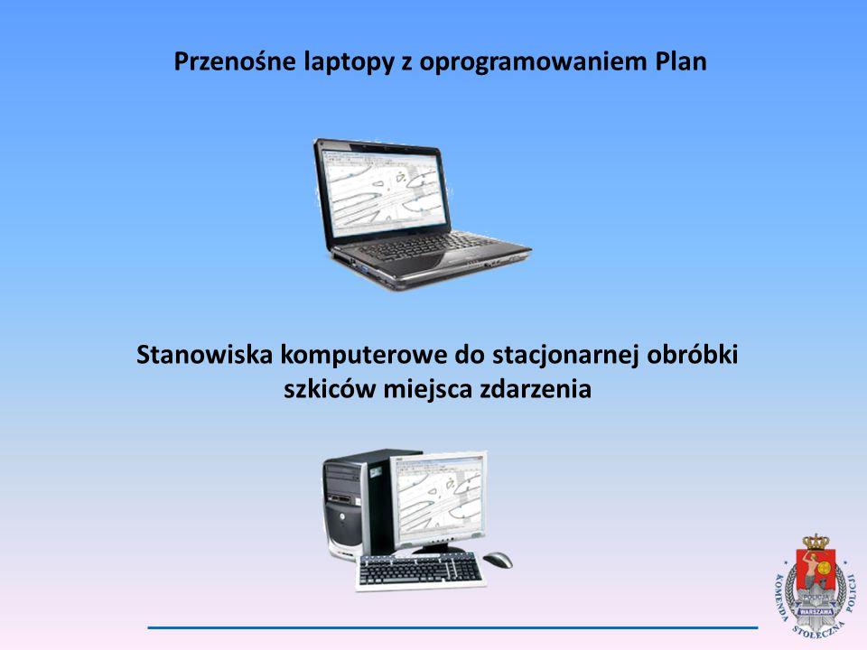 Przenośne laptopy z oprogramowaniem Plan Stanowiska komputerowe do stacjonarnej obróbki szkiców miejsca zdarzenia