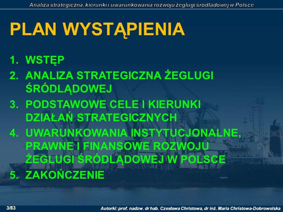 Autorki: prof. nadzw. dr hab. Czesława Christowa, dr inż. Maria Christowa-Dobrowolska 4/83 1. WSTĘP