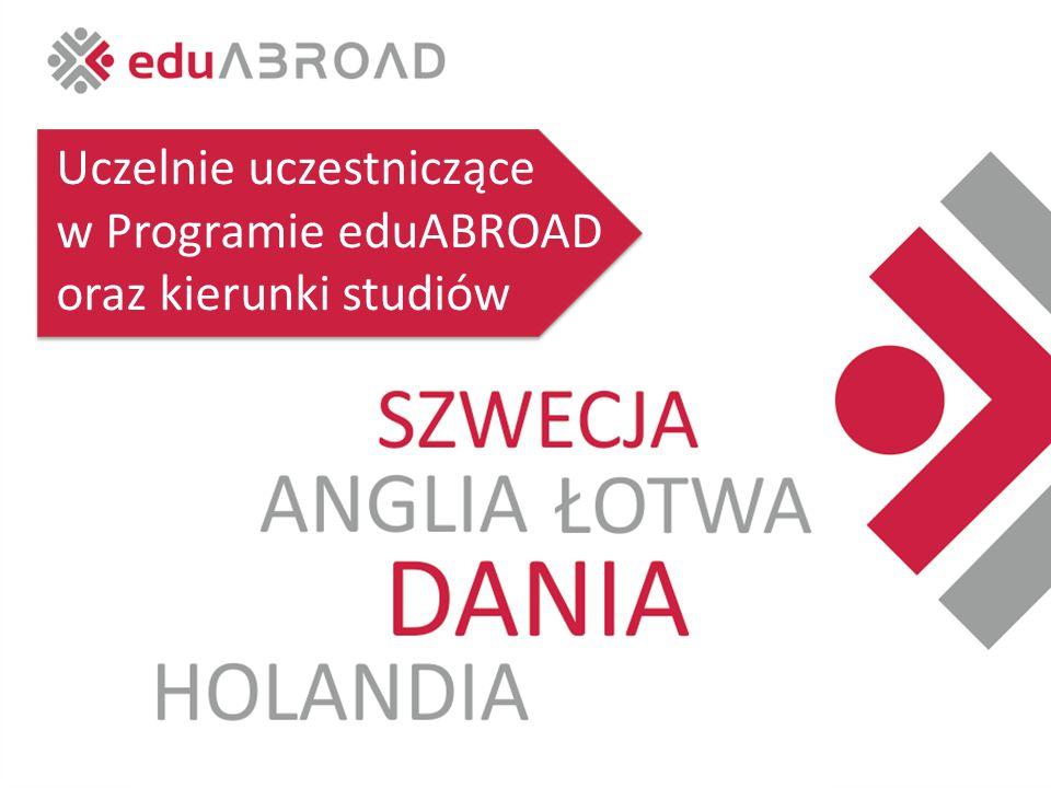 Uczelnie uczestniczące w Programie eduABROAD oraz kierunki studiów