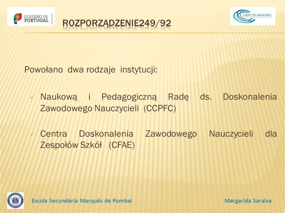 Powołano dwa rodzaje instytucji: Naukową i Pedagogiczną Radę ds.