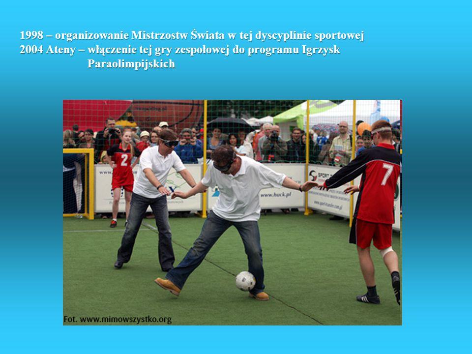 Piłka dla 5 - futsal Piłka dla 5 to młodzik wśród paraolimpijskich dyscyplin sportowych. Po raz pierwszy zagościła na igrzyskach w Atenach w 2004 roku