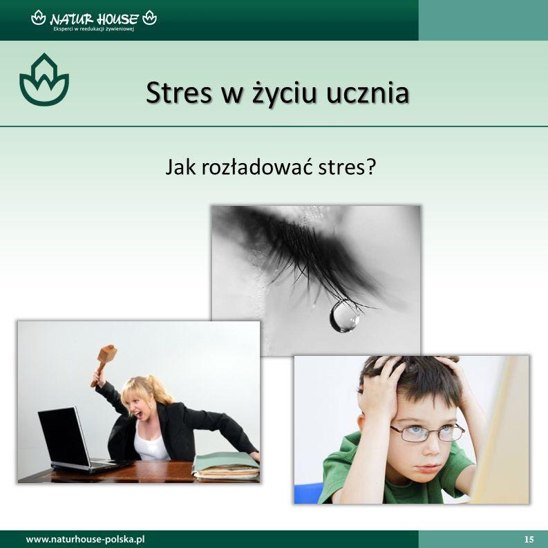 15 Stres w życiu ucznia Jak rozładować stres?