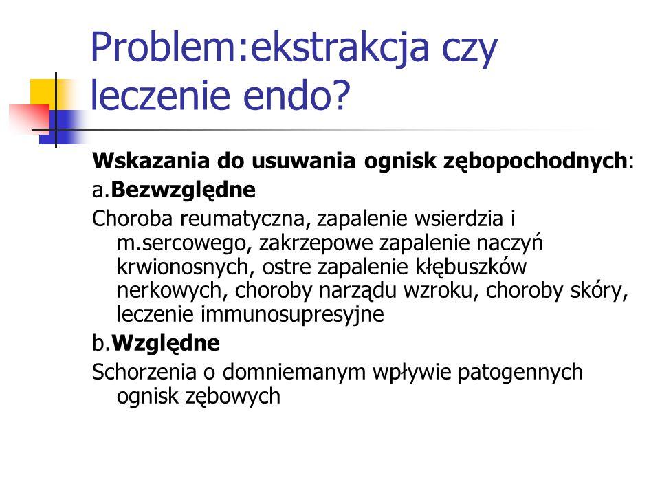 Problem:ekstrakcja czy leczenie endo.