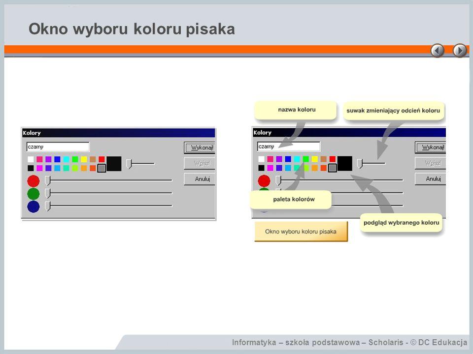 Informatyka – szkoła podstawowa – Scholaris - © DC Edukacja Okno wyboru koloru pisaka