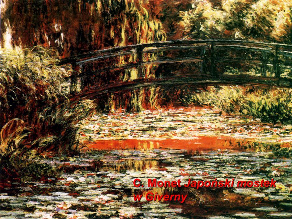 C. Monet Japoński mostek w Giverny