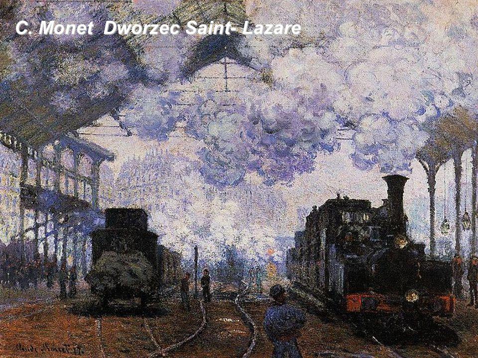 C. Monet Dworzec Saint- Lazare