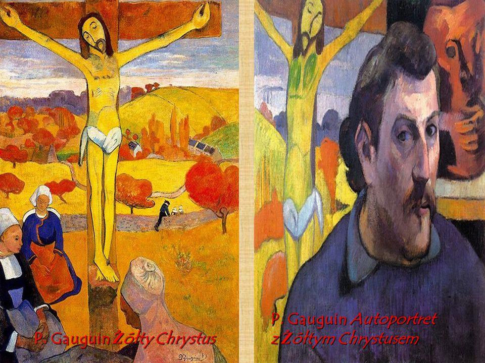 P. Gauguin Żółty Chrystus P. Gauguin Autoportret z Żółtym Chrystusem