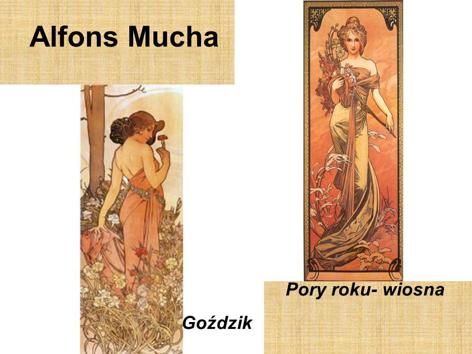 Alfons Mucha Goździk Pory roku- wiosna