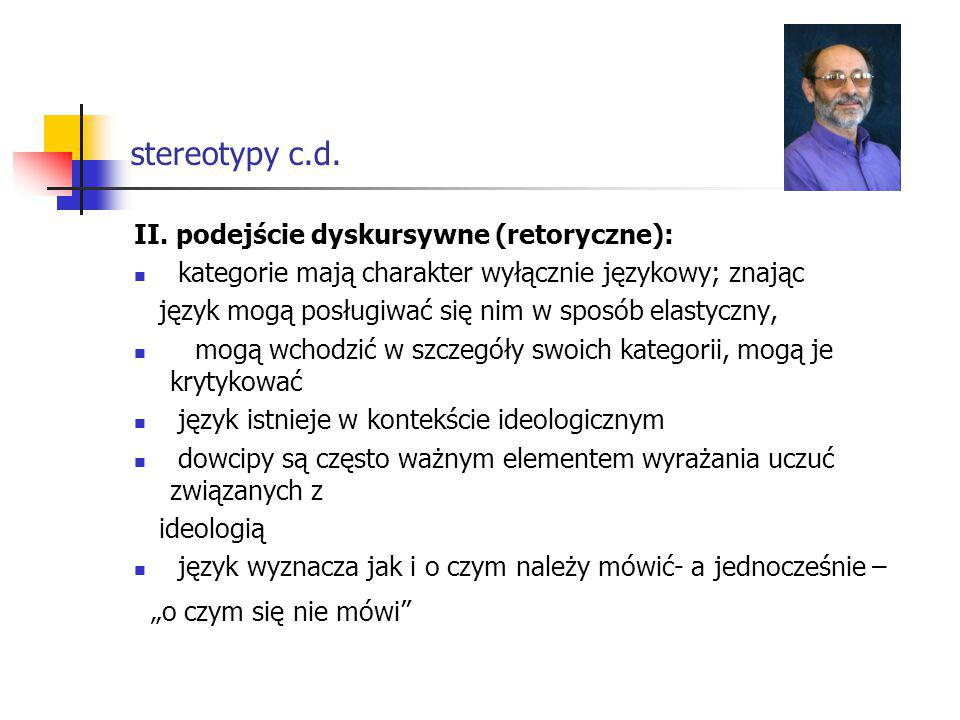 stereotypy c.d.II.