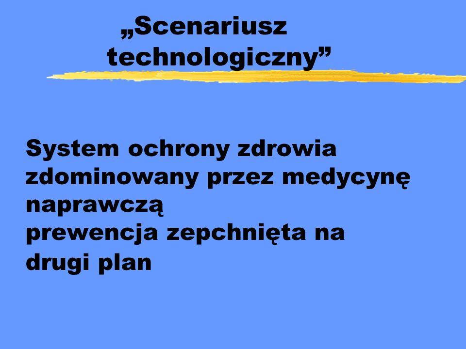 """""""Scenariusz technologiczny"""" System ochrony zdrowia zdominowany przez medycynę naprawczą prewencja zepchnięta na drugi plan"""