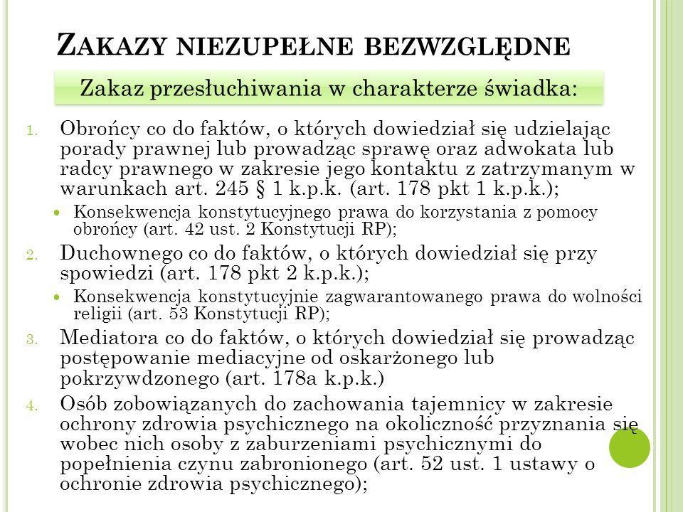 Z AKAZY NIEZUPEŁNE BEZWZGLĘDNE 1.
