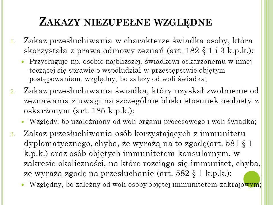 Z AKAZY NIEZUPEŁNE WZGLĘDNE 1.