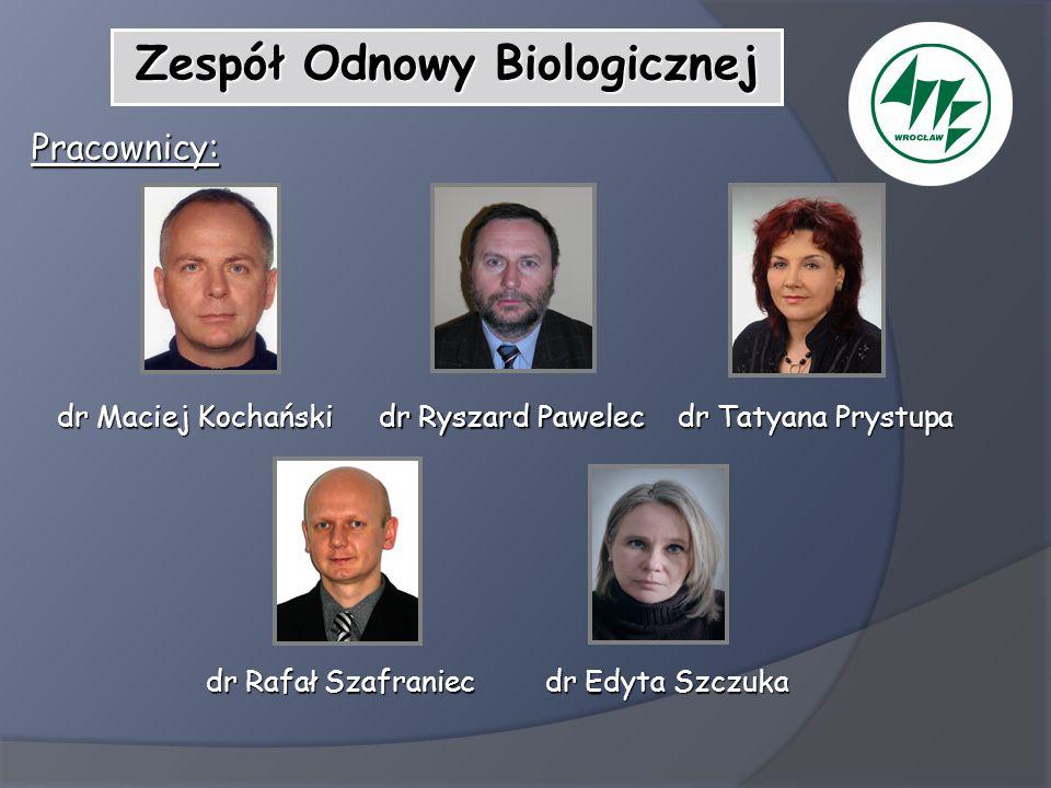 Zespół Odnowy Biologicznej Pracownicy: dr Maciej Kochański dr Maciej Kochański dr Rafał Szafraniec dr Rafał Szafraniec dr Tatyana Prystupa dr Tatyana