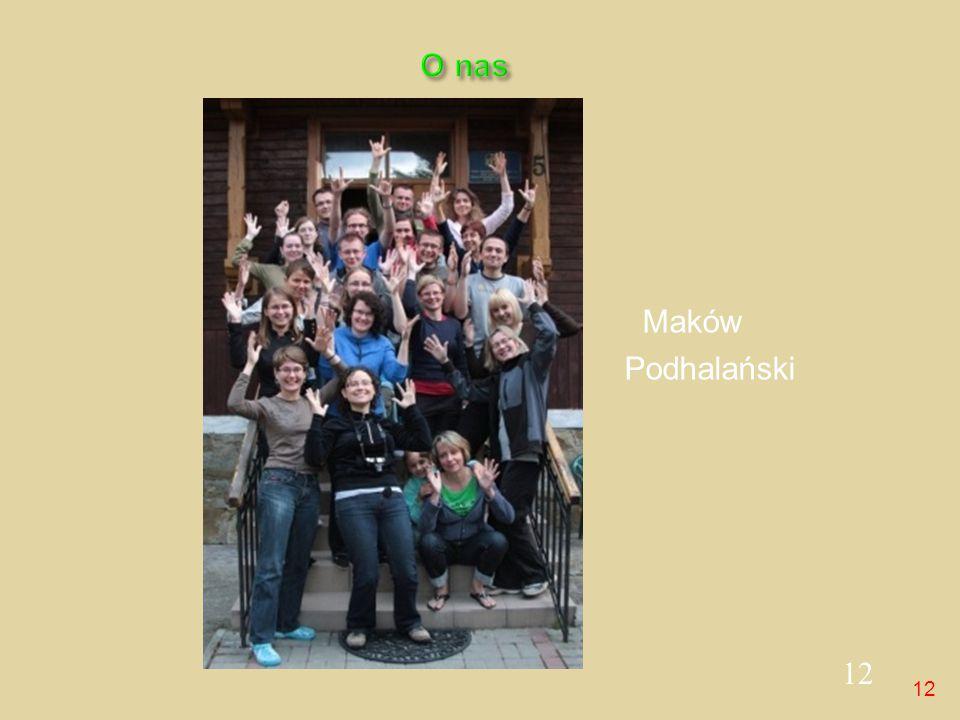 12 Maków Podhalański O nas