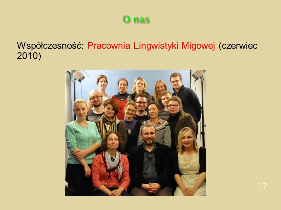 O nas Współczesność: Pracownia Lingwistyki Migowej (czerwiec 2010) 17