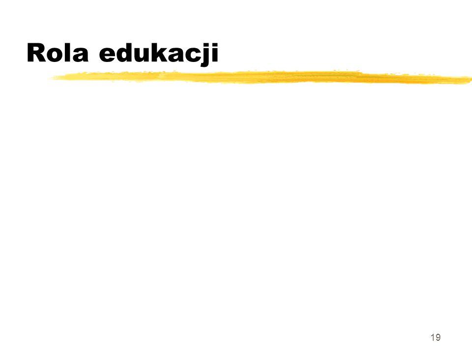 19 Rola edukacji