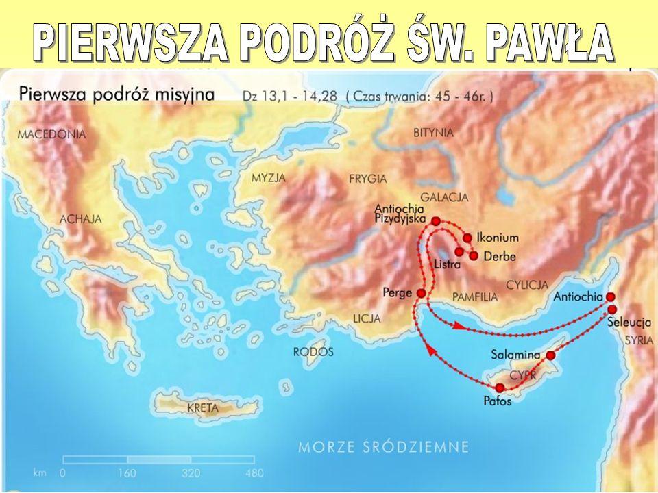 Pierwszą podróż misyjną Pawła z Tarsu datuje się na lata 45-48 Barnaba i Paweł zostali wysłani przez działających w Antiochii chrześcijańskich nauczycieli i proroków do Seleucji.