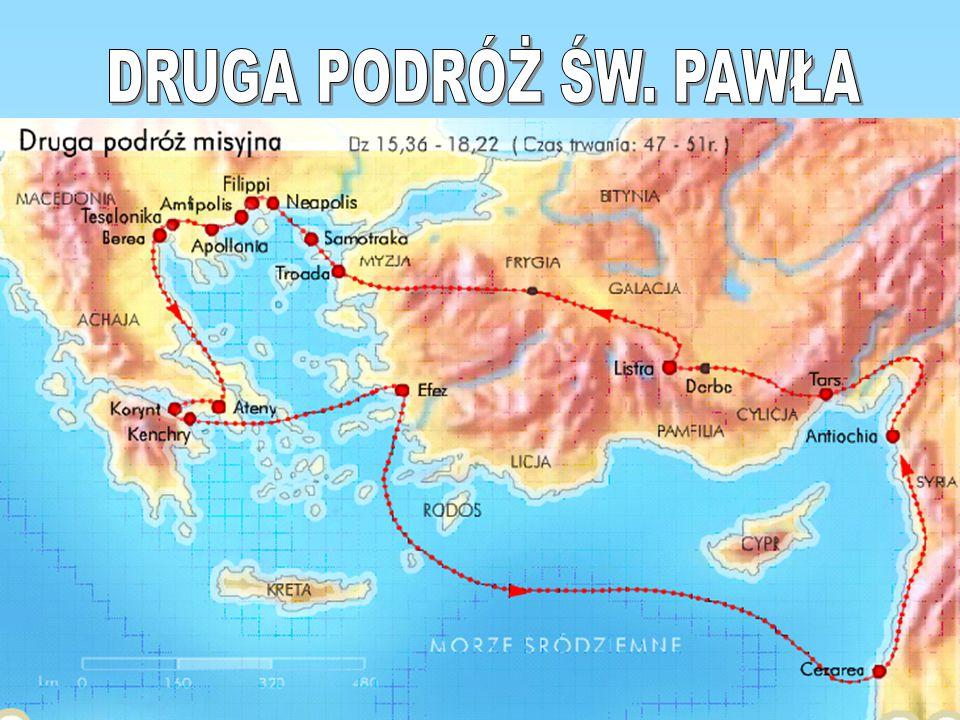 Drugą podróż misyjną Pawła z Tarsu datuje się na lata 50-52..