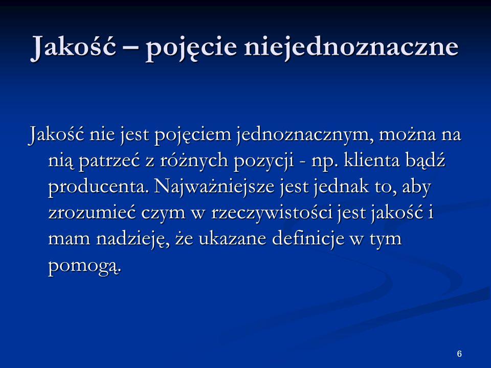 27 ISO 9126-1 Różnica między użytecznością (usability) i funkcjonalnością (functionality) to nie do końca prosta kwestia, skomplikowana dodatkowo przez różnice między polskimi, a oryginalnymi znaczeniami tych pojęć.
