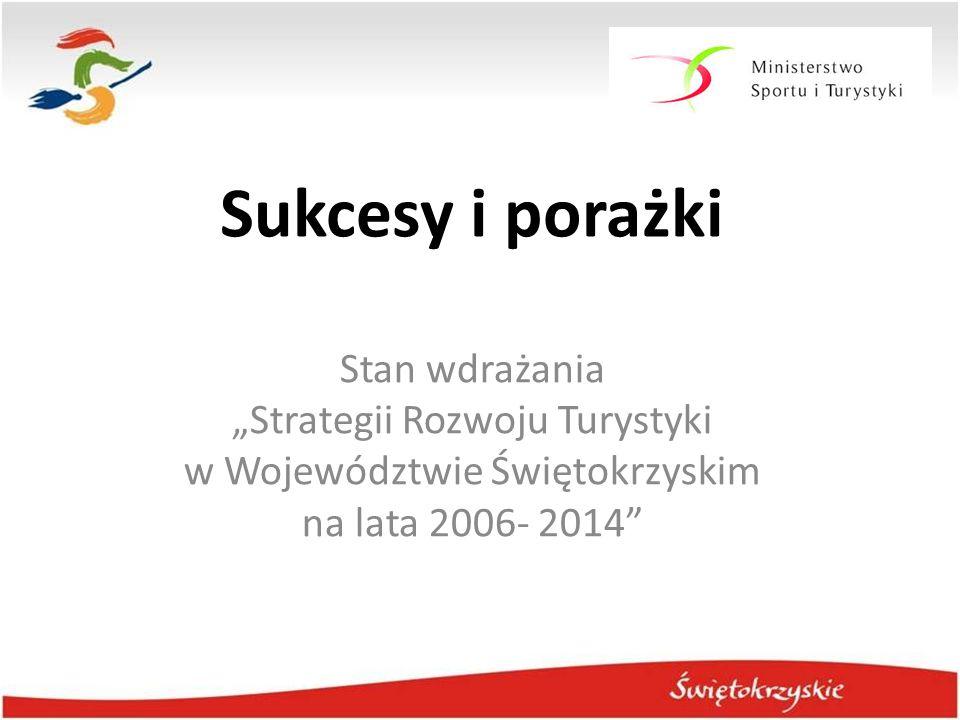 """Sukcesy i porażki Stan wdrażania """"Strategii Rozwoju Turystyki w Województwie Świętokrzyskim na lata 2006- 2014"""""""