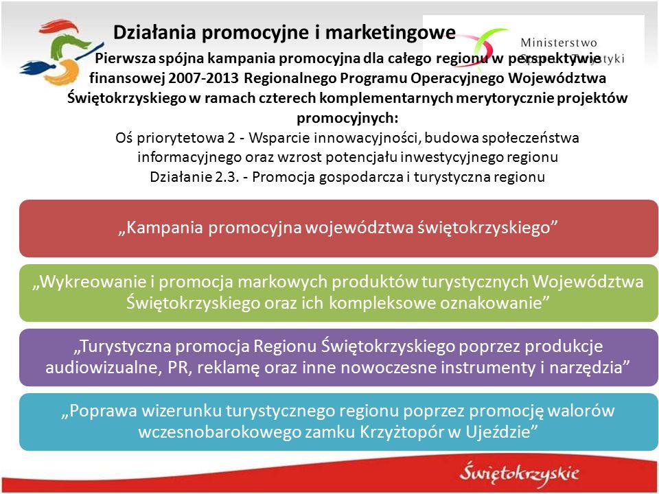 """Działania promocyjne i marketingowe """"Kampania promocyjna województwa świętokrzyskiego"""" """"Wykreowanie i promocja markowych produktów turystycznych Wojew"""