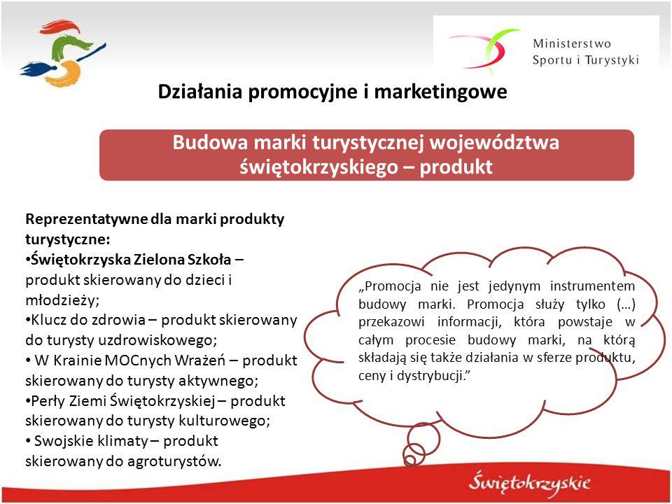"""Działania promocyjne i marketingowe Budowa marki turystycznej województwa świętokrzyskiego – produkt """"Promocja nie jest jedynym instrumentem budowy ma"""