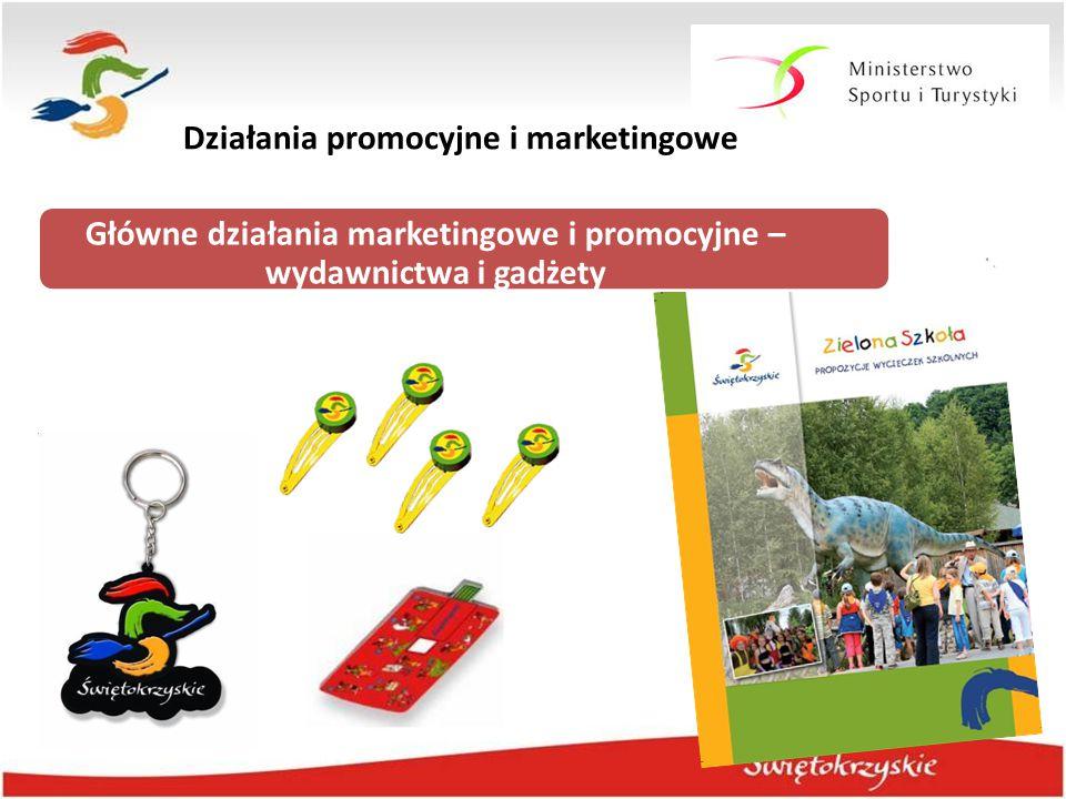 Działania promocyjne i marketingowe Główne działania marketingowe i promocyjne – wydawnictwa i gadżety