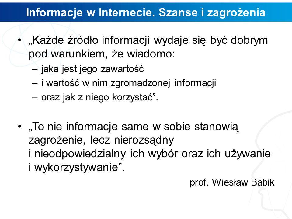 Informacje w Internecie.