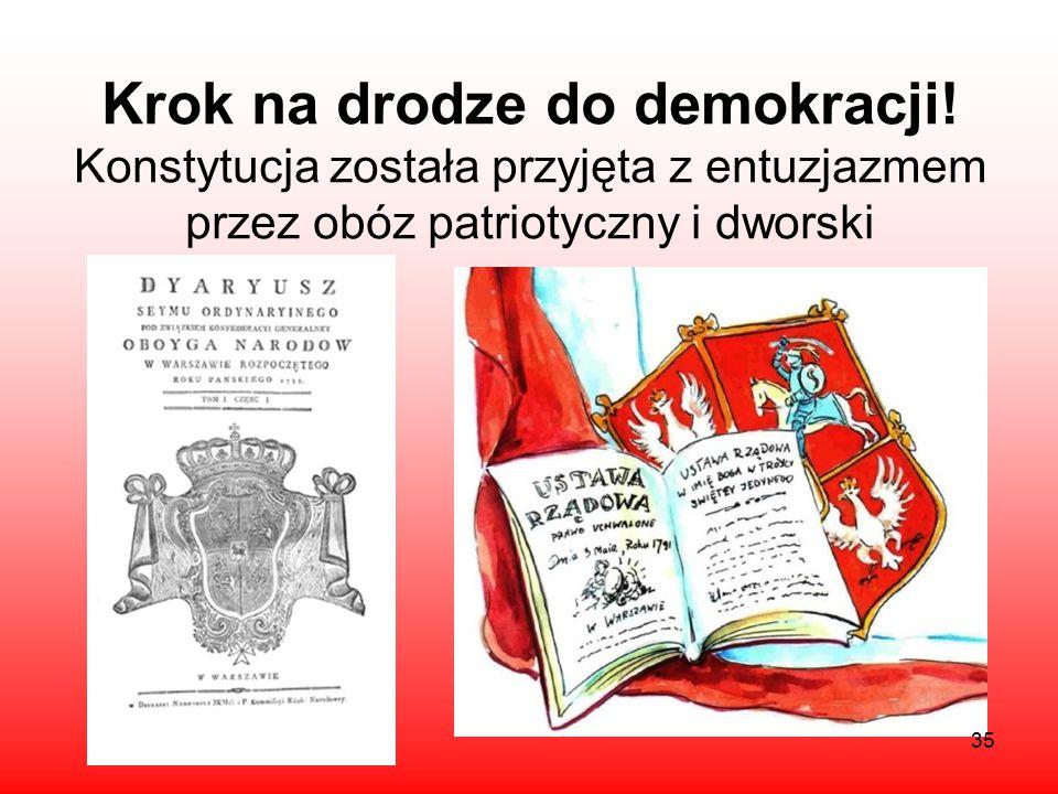 Nie wszyscy równi! Konstytucja polska, w przeciwieństwie do amerykańskiej, nie wprowadzała wolności i równości praw obywateli *pełnię praw politycznyc