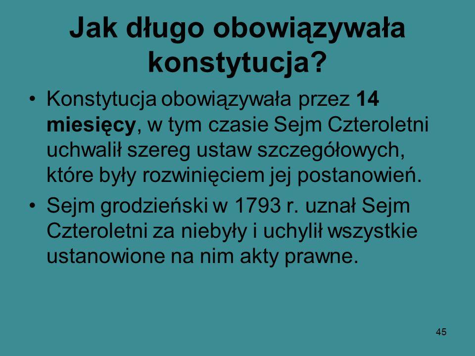 II rozbiór Polski w 1793 r. dokonany przez Rosję i Prusy 44