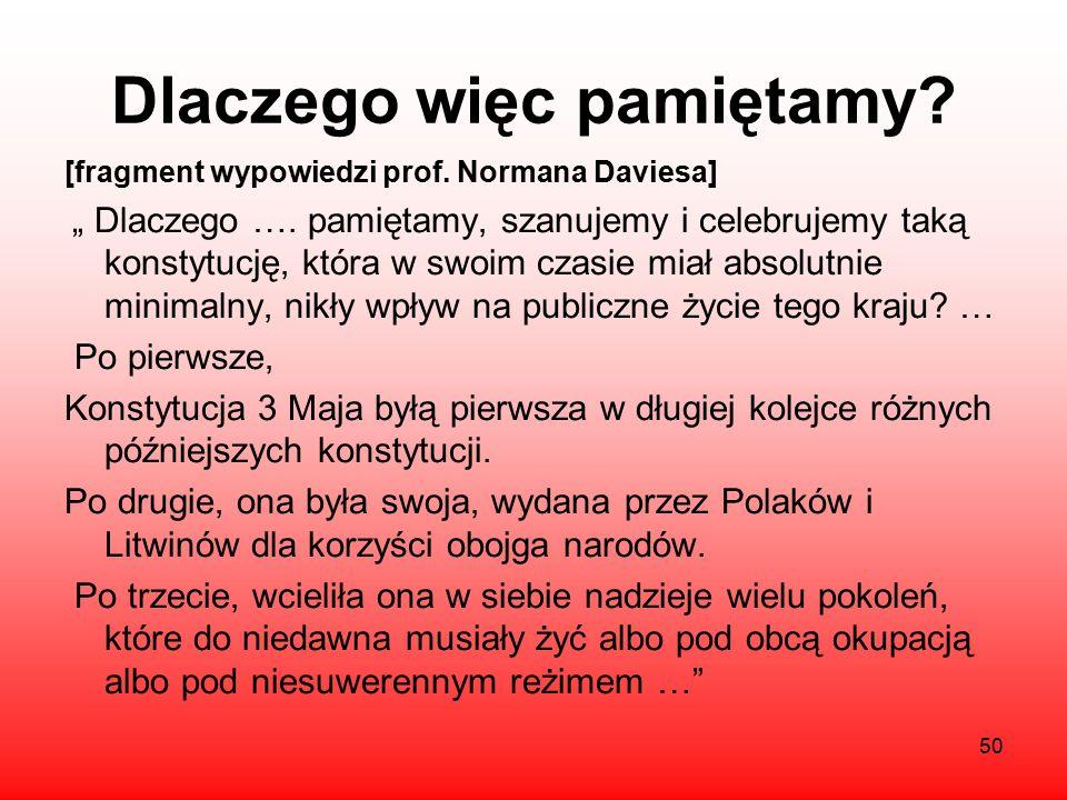 Dlaczego nie udało się? Nie udało się ocalić Polski, ponieważ wpływ zaborców uniemożliwił wprowadzenie konstytucji w życie uległość Stanisława Augusta