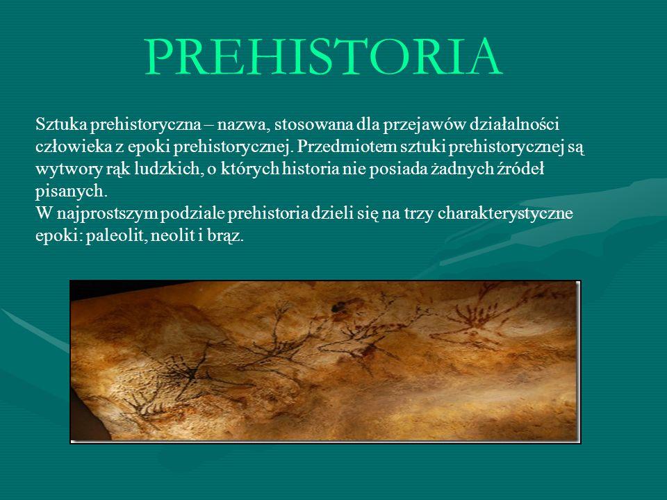 SZTUKA PALEOLITU Trwał od początku pojawienia się człowieka do 8000 r.