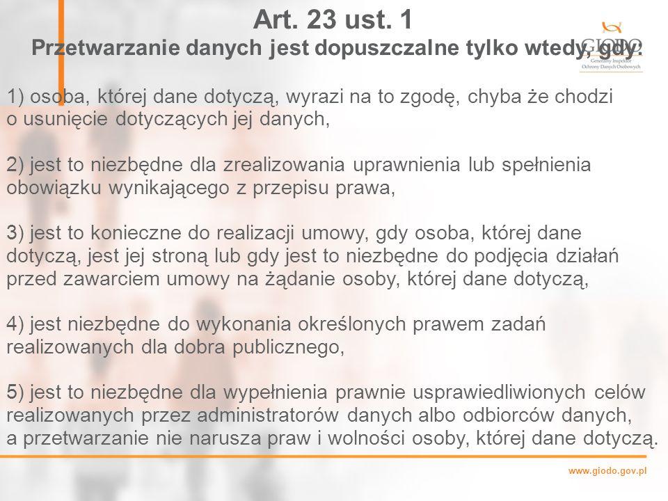 www.giodo.gov.pl Art.23 ust.