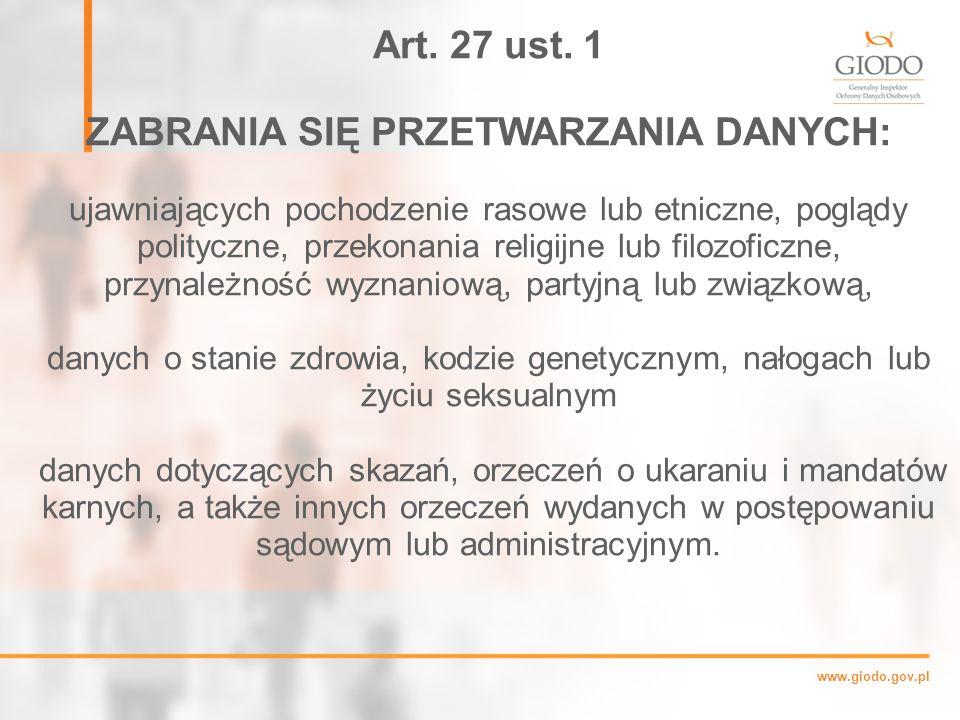 www.giodo.gov.pl Art.27 ust.