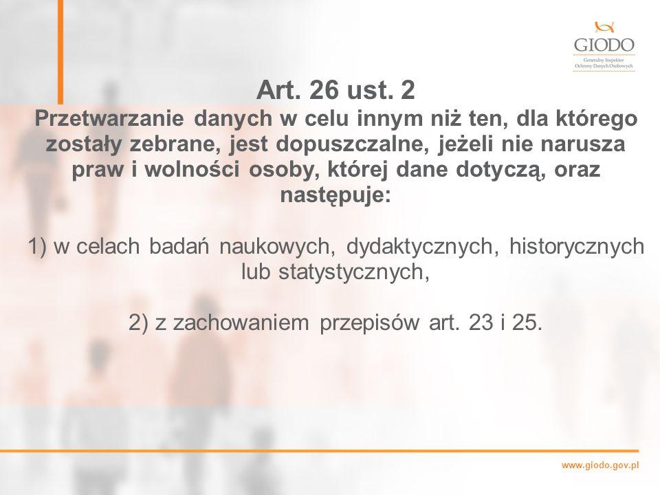 www.giodo.gov.pl Art.26 ust.