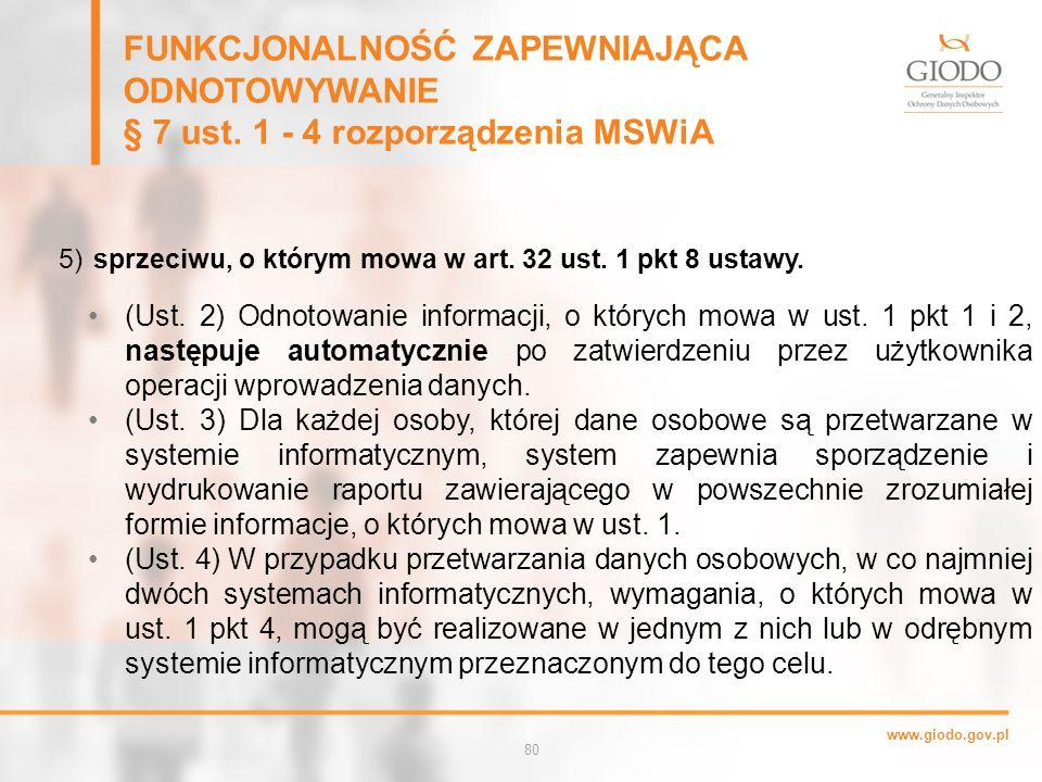 www.giodo.gov.pl 80 5) sprzeciwu, o którym mowa w art.