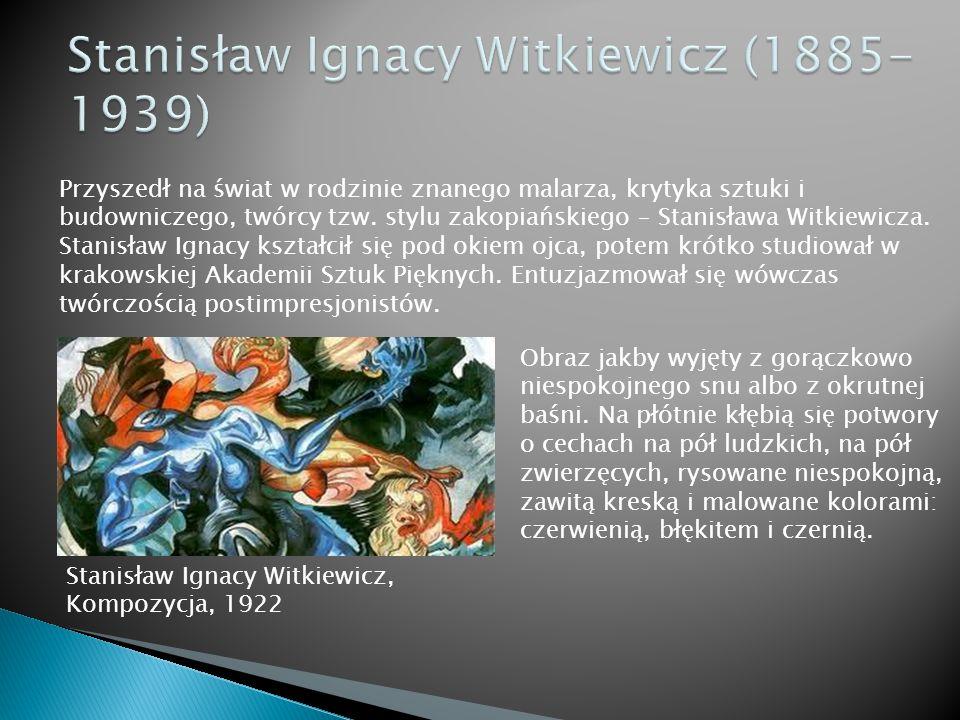 Przyszedł na świat w rodzinie znanego malarza, krytyka sztuki i budowniczego, twórcy tzw. stylu zakopiańskiego – Stanisława Witkiewicza. Stanisław Ign