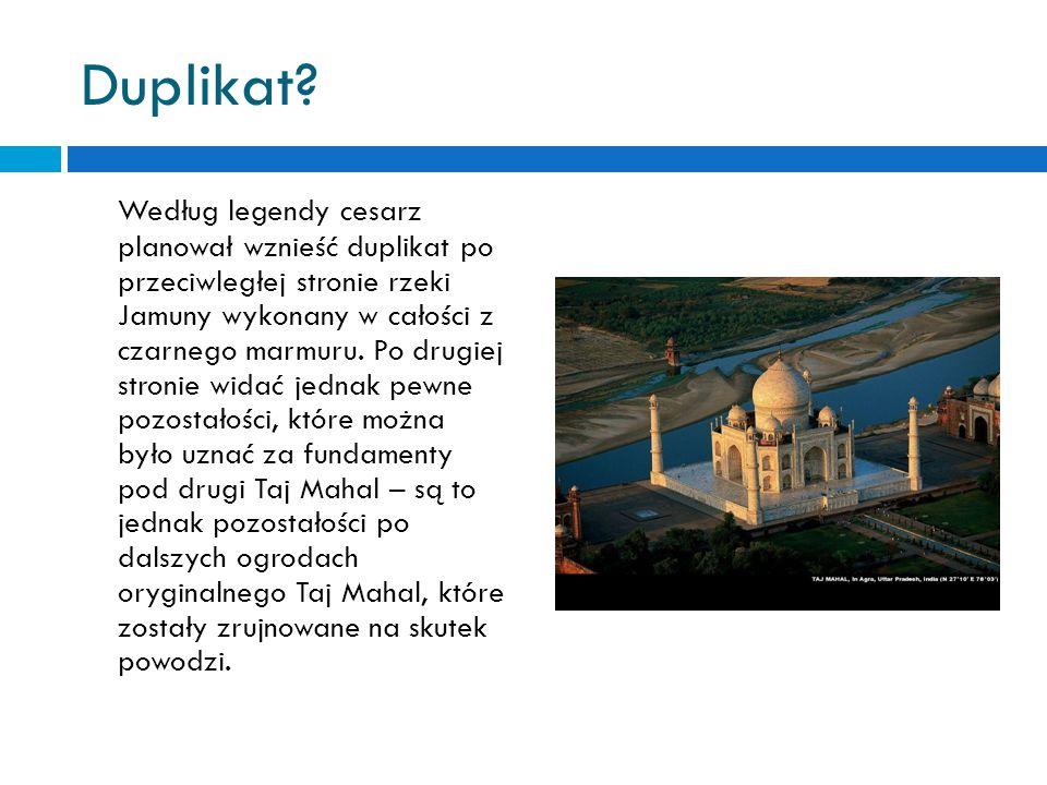 Taj Mahal w XIX wieku. W latach trzydziestych XIX wieku, mający dwieście lat Taj Mahal, był zaniedbany i zarośnięty, niemalże popadł w ruinę. Lord Wil
