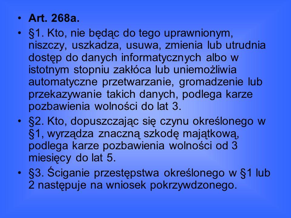 Art.268a. §1.